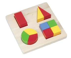 Chunky Fraction Shape Puzzle Board