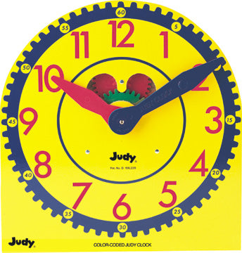 Wooden Color-Coded Judy Clock