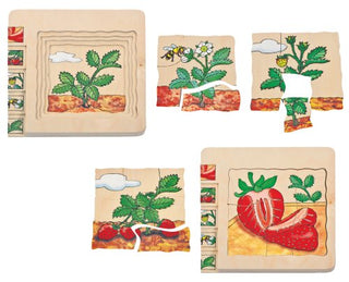 Multi-Layer Nesting Wood Puzzle: From Seed Strawberry 5-Layer