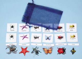 Classification Science: Invertebrates 3-Part Cards With Objects