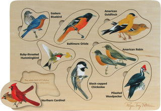 Birds: Backyard Birds Wood Puzzle