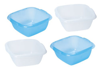 Cleaning: Dishpans Value Pack Set/4 (2  Blue, 2 Clear/White)