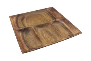 Tray: 4-Section Wood Sorting South Pacific