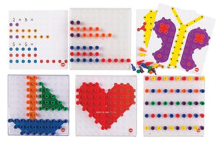 Geo-Peg Transparent Activity Board Set