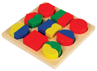 Fraction Shape Matching Puzzle Board