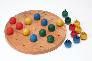 Toddler: Jumbo Wood Knob Pegboard Set Item# S9393