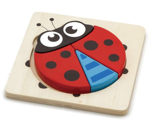 First Block Chunky Ladybug Wood Tray Puzzle