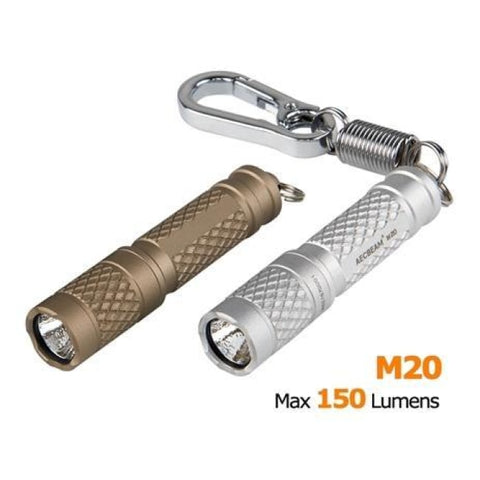 150 Lumen Edc Keychain Flashlight - 1X Aaa - Acebeam M20 - Tan - Flashlights - Acebeam - Colonel Mustard