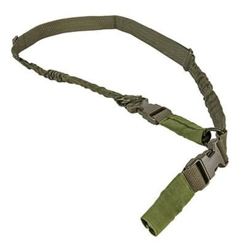 2 Point To Single Point Sling Metal Spring Clips - Green - Slings - Vism - Colonel Mustard