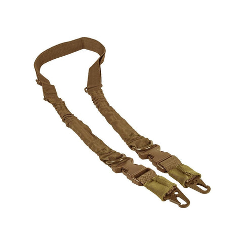 2 Point To Single Point Sling Metal Spring Clips - Tan - Slings - Vism - Colonel Mustard
