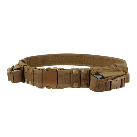 2 Tactical Belt With Magazine Pouches - Coyote Brown - Clothing - Condor Outdoor - Colonel Mustard