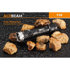 2000 Lumen Tactical/hunting Flashlight Kit - Usb-C Rechargeable - Acebeam T36 5000K - Flashlights - Acebeam - Colonel Mustard