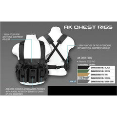 Ak Chest Rig - Tan - Vests/chest Rigs - Vism - Colonel Mustard