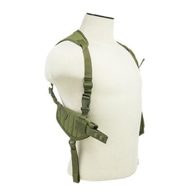 Ambidextrous Horizontal Shoulder Holster / Double Magazine Holder - Green - Holsters And Scabbards - Vism - Colonel Mustard
