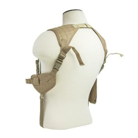 Ambidextrous Horizontal Shoulder Holster / Double Magazine Holder - Tan - Holsters And Scabbards - Vism - Colonel Mustard