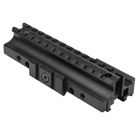 Ar-15 Flat Top Tri-Rail Mount - Weaver - Mounting Systems - Ncstar - Colonel Mustard