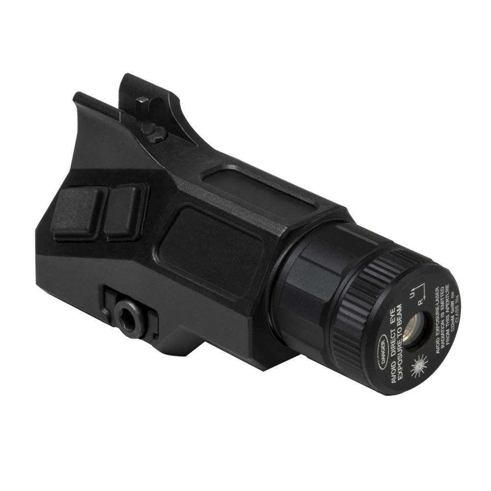 Ar-15 Front Sight Post & Green Laser With Strobe Combo - Picatinny - Sight Combos - Vism - Colonel Mustard