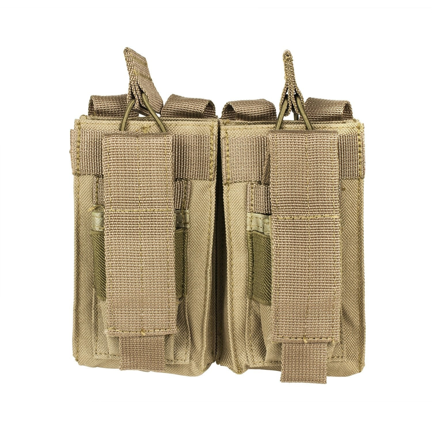 Ar Double Mag & Pistol Double Mag Kangaroo Pouch - Tan - Molle Pouches And Accessories - Vism - Colonel Mustard