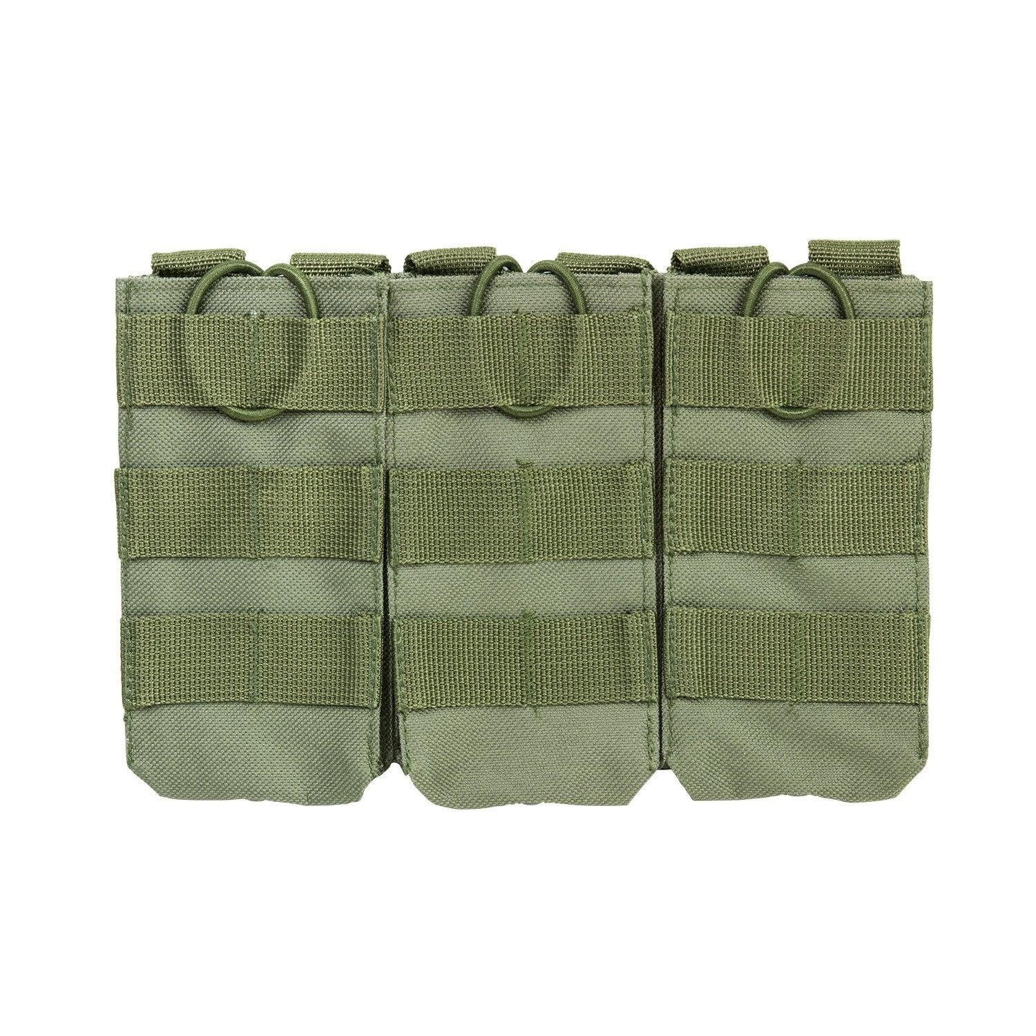 Ar Triple Magazine Pouch - Green - Molle Pouches And Accessories - Vism - Colonel Mustard
