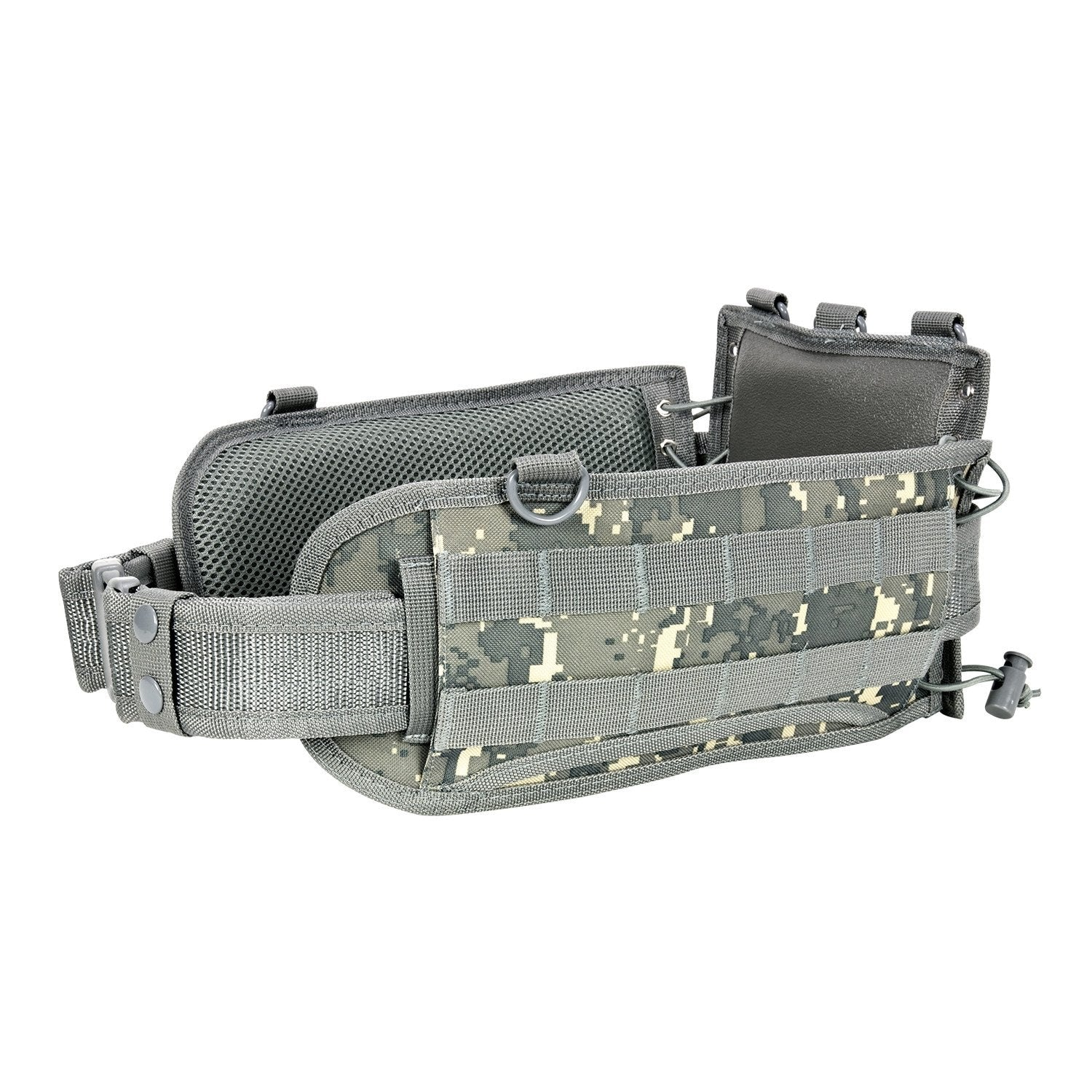 Battle Belt With Pistol Belt - Digital Camo - Molle Pouches And Accessories - Vism - Colonel Mustard