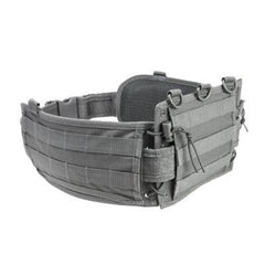 Battle Belt With Pistol Belt - Urban Gray - Molle Pouches And Accessories - Vism - Colonel Mustard