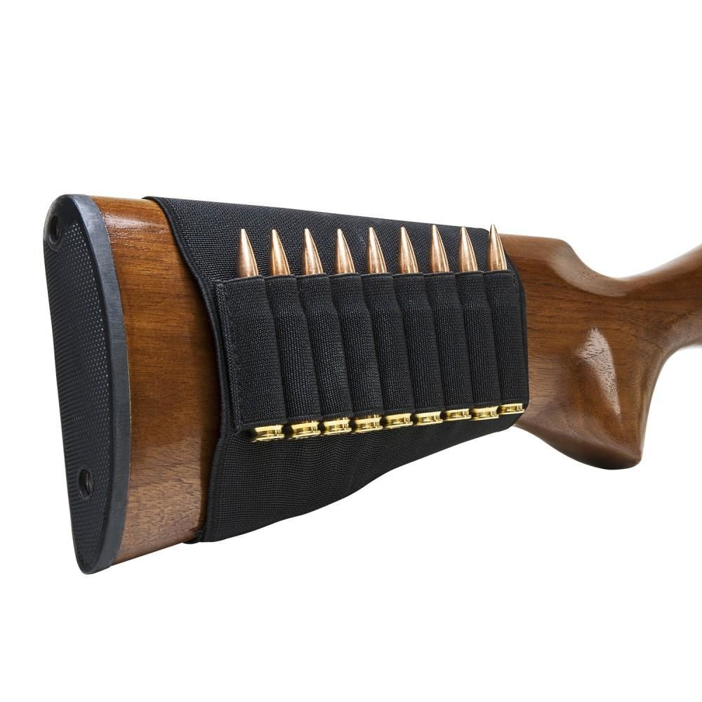 Buttstock Rifle Cartridge Holder - Black - Hunting - Vism - Colonel Mustard