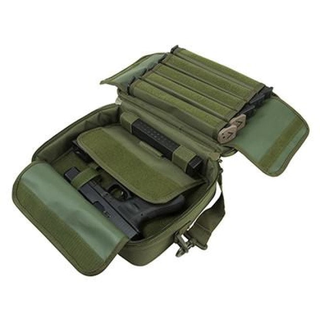 Deluxe Double Pistol Case - Green - Pistol Cases - Vism - Colonel Mustard