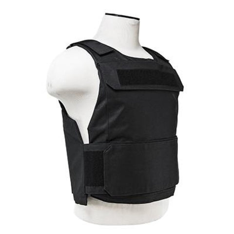 Discrete Plate Carrier Combo Black - Includes 2X Ballistic Soft Panels - Shooters/rectangle Cut 11X14 - Body Armour - Vism - Colonel Mustard