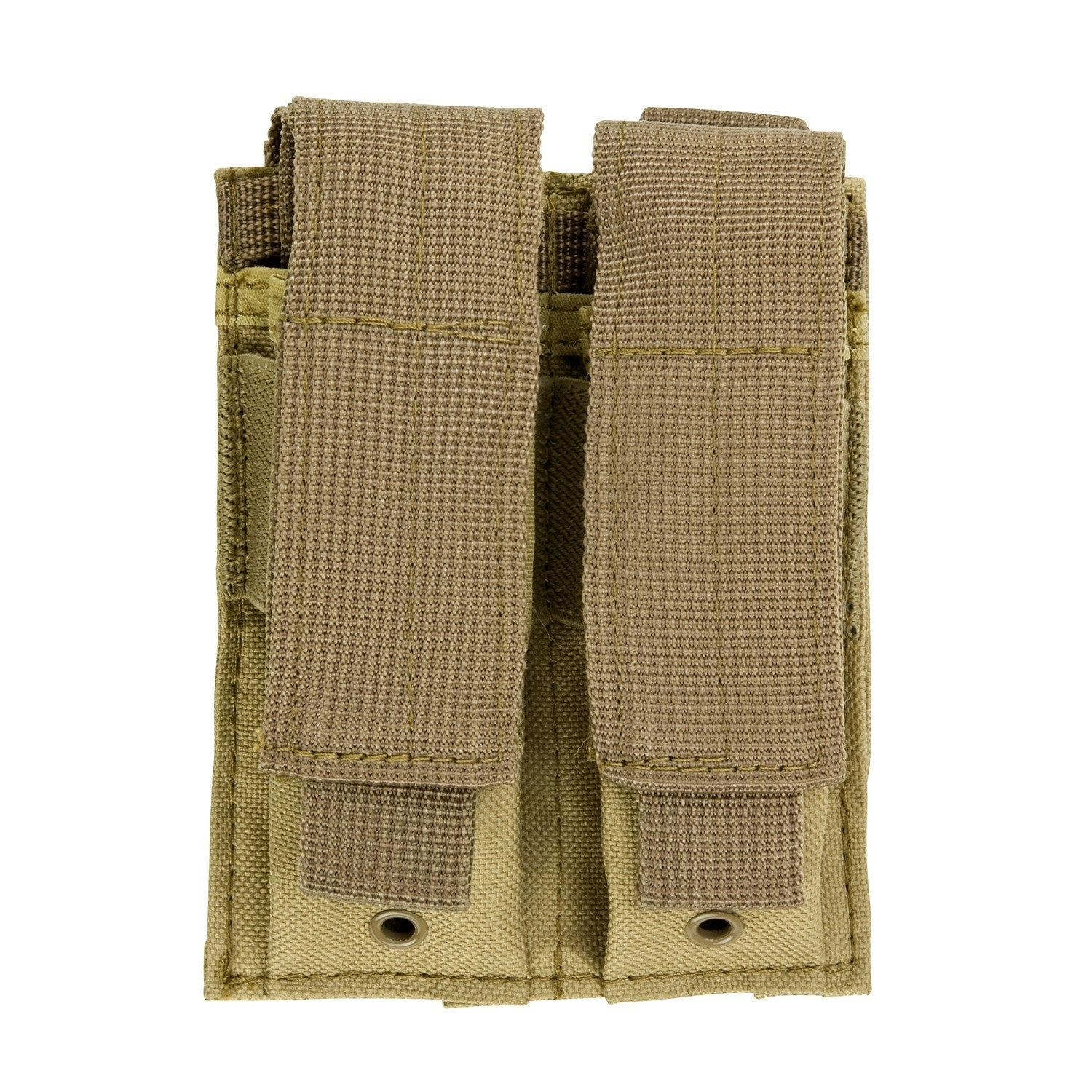 DOUBLE PISTOL MAG POUCH - TAN - Molle Pouches and Accessories - VISM - Colonel Mustard
