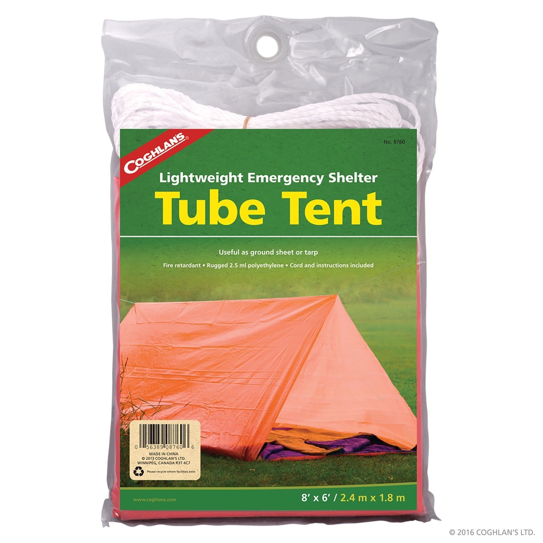 Emergency Tube Tent - Orange - Outdoor Equipment - Coughlans - Colonel Mustard