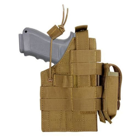 GLOCK AMBIDEXTROUS MODULAR MOLLE HOLSTER - COYOTE BROWN - Holsters and Scabbards - Condor Outdoor - Colonel Mustard
