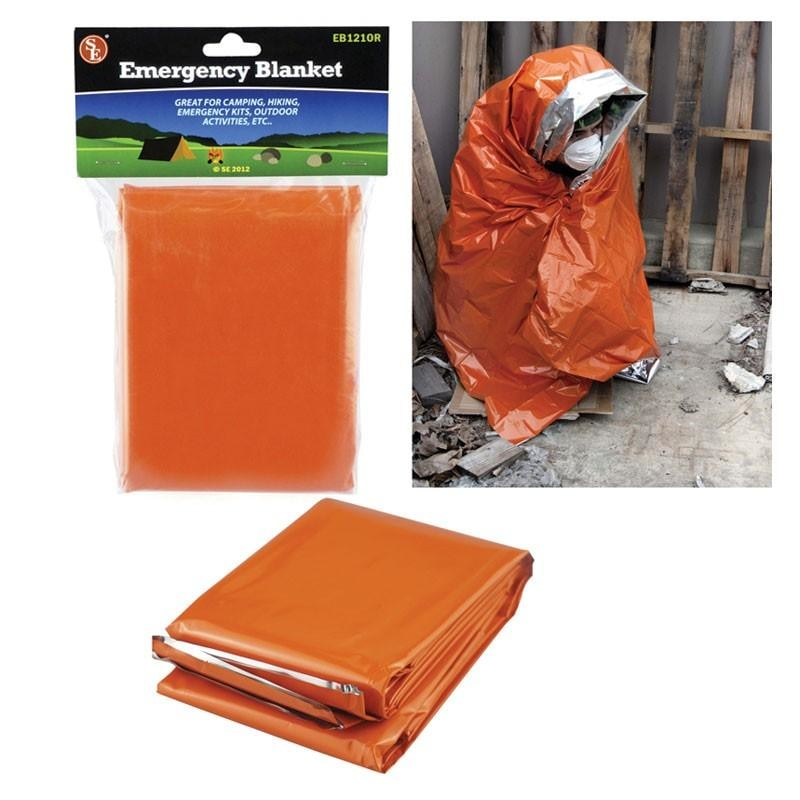 Heavy Duty Aluminised Emergency Blanket - Orange/reflective - Outdoor Equipment - Se - Colonel Mustard