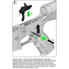Hiperfire Enhanced Duty (Edt) Sharp Shooter Trigger Assembly - Accessories/tools - Hiperfire - Colonel Mustard