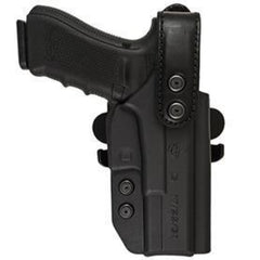 International Duty Kydex Holster (Level 2) - Belt Paddle Drop Offset - Comp-Tac - Glock 19/23/32 Gen 1/2/3/4 Rsc Black - Holsters And