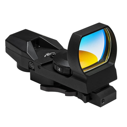 Keymod 4 Reticle Red Dot Reflex Optic - Quick Release - Dot Sights - Vism - Colonel Mustard