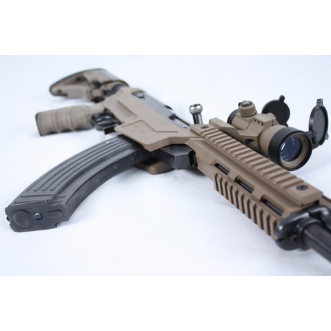 New Sabertooth Mk Ii Sks Aluminum Stock - Flat Dark Earth - Free Delivery In Canada - Mounting Systems - Matador Arms Corp - Colonel Mustard