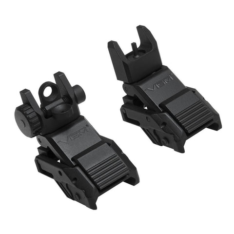 PRO SERIES FLIP-UP FRONT AND REAR SIGHTS COMBO - PICATINNY MOUNT - Sight Combos - VISM - Colonel Mustard