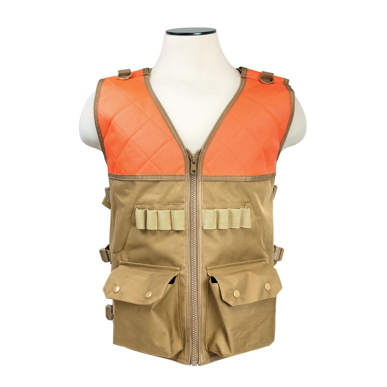 Shotgun / Hunting Vest - Blaze Orange & Tan - Vests/chest Rigs - Vism - Colonel Mustard