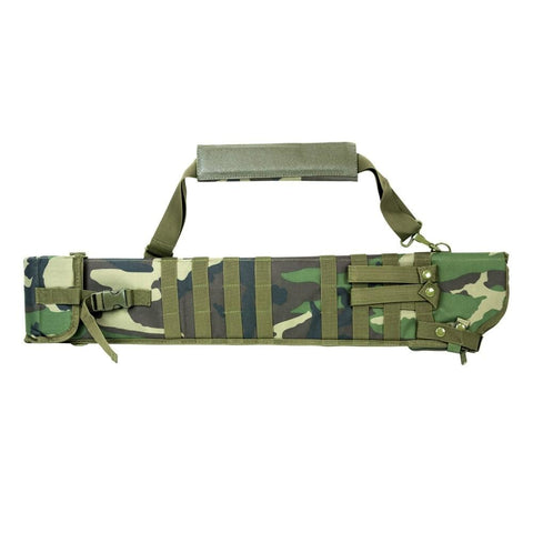 Tactical Shotgun Scabbard - Woodland Camo - Holsters And Scabbards - Vism - Colonel Mustard
