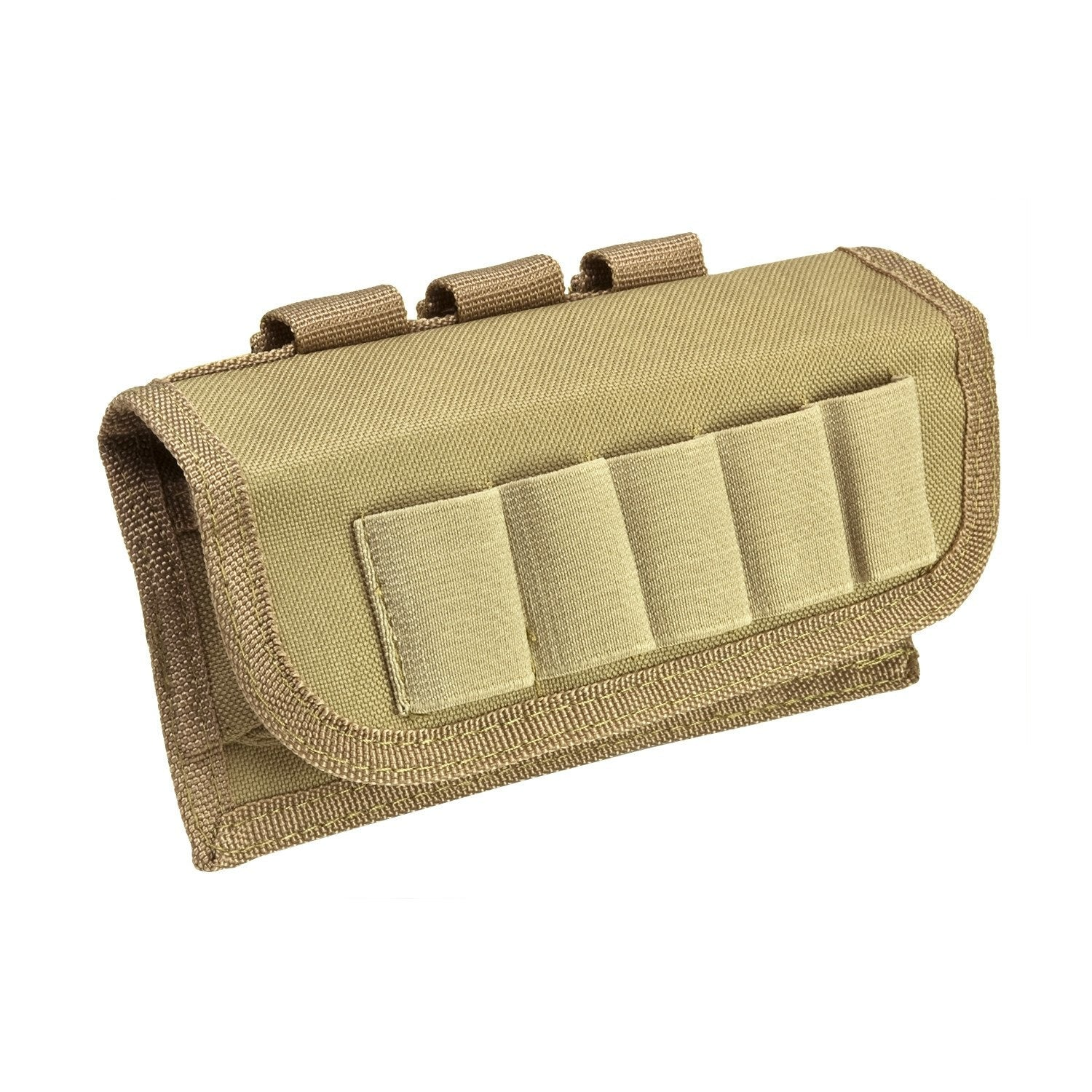 Tactical Shotshell Carrier - Tan - Molle Pouches And Accessories - Vism - Colonel Mustard