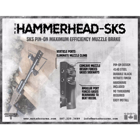 The Hammerhead Sks Muzzle Brake - Pin-On - Muzzle Brakes - Matador Arms Corp - Colonel Mustard