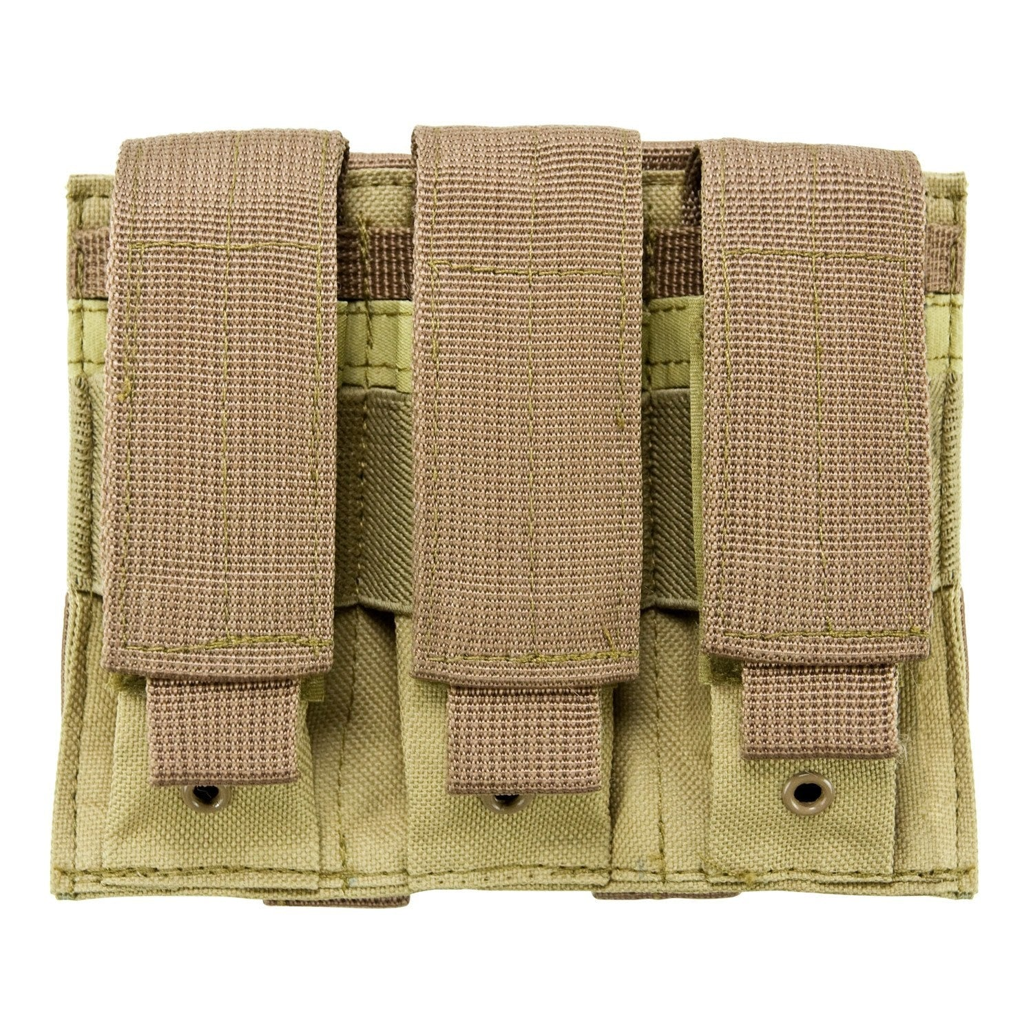 Triple Pistol Mag Pouch - Tan - Molle Pouches And Accessories - Vism - Colonel Mustard