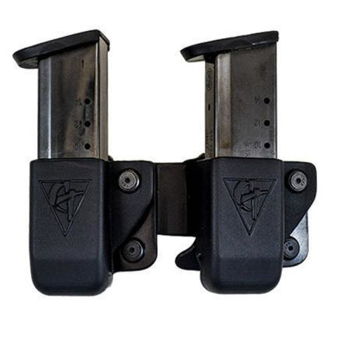 Twin Kydex Magazine Pouch - Belt Clip - Comp-Tac - Holsters And Scabbards - Comp-Tac - Colonel Mustard