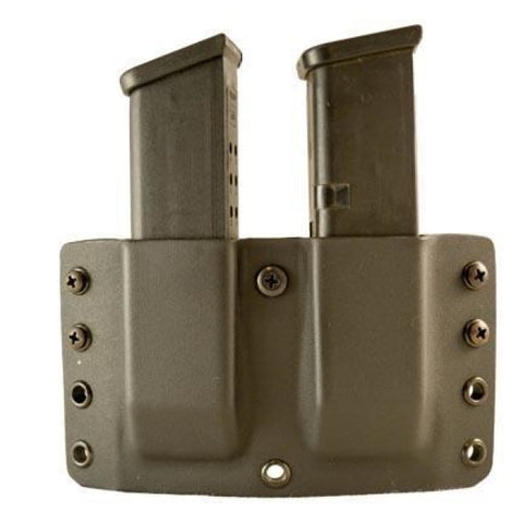 Twin Warrior Kydex Magazine Pouch - Ambidextrous Belt Loop - Comp-Tac - #1 - 1911 5 L-Hand / R-Hand Black - Holsters And Scabbards -