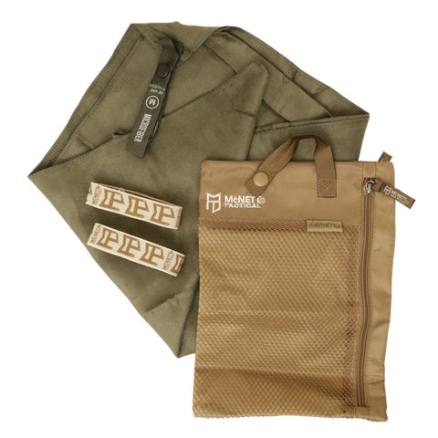 Ultra Compact Microfibre Towel - Medium - Od Green 40X20 - Outdoor Equipment - Mcnett Tactical - Colonel Mustard