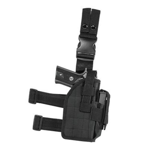 Universal Drop Leg Holster - Black (2954) - Holsters And Scabbards - Vism - Colonel Mustard