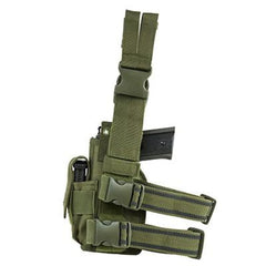 Universal Drop Leg Holster - Green (2954) - Holsters And Scabbards - Vism - Colonel Mustard