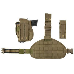 Universal Drop Leg Panel Holster Mag Pouches Combo - Tan (2956) - Holsters And Scabbards - Vism - Colonel Mustard