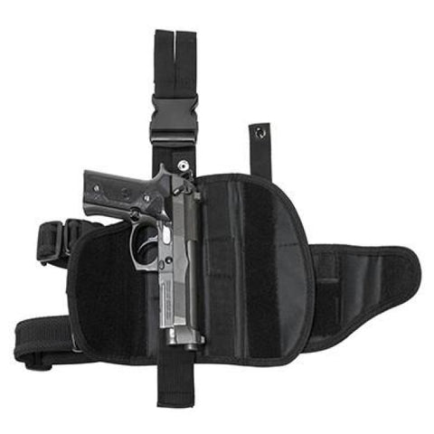 Universal Tactical Drop Leg Holster - Black (2955) - Holsters And Scabbards - Vism - Colonel Mustard