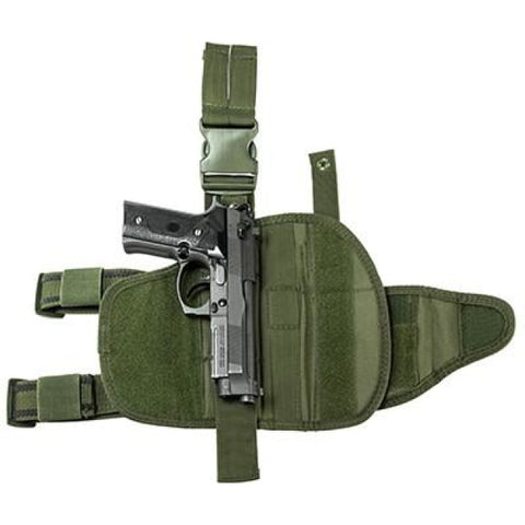 Universal Tactical Drop Leg Holster - Green (2955) - Holsters And Scabbards - Vism - Colonel Mustard
